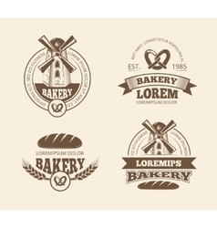 Retro bread bakery old style logos labels badges vector