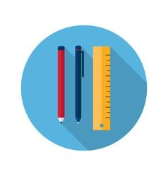 Ruler pen and pencil icon vector