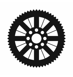Sprocket from bike icon simple style vector