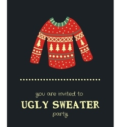sweater invitation vector image vector image
