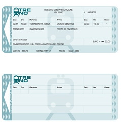 train ticket vector image vector image