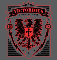 Victorious eagle heraldry t-shirt graphic vector