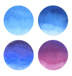 Watercolor bright circle shape design elements vector