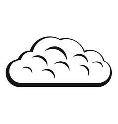 Winter cloud icon simple style vector