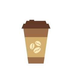 Coffee cup flat icon vector
