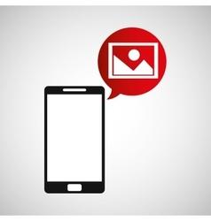 cellphone image multimedia icon vector image