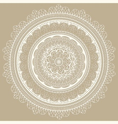 Vintage white lacy napkin vector