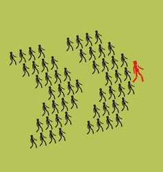 leadership and teamwork concept the crowd of vector image