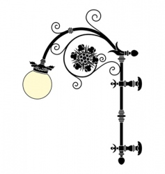 wall street lamp vector image