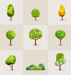 Abstract tree low poly tree vector