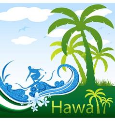 hawaii poster vector image