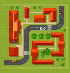 Town top view vector image