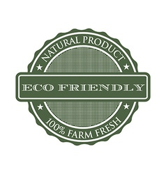 Eco-friendly product seal logo vector