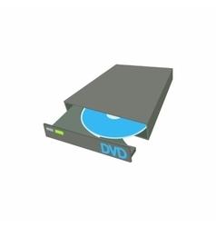 Portable external CD DVD burner writer icon vector image