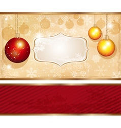 Retro christmas banner vector