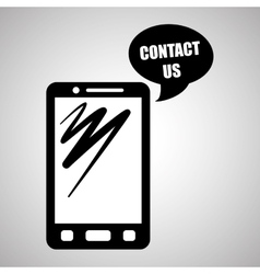 Smartphone design contact and technology concept vector