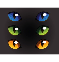 Wild Cat Eyes vector image