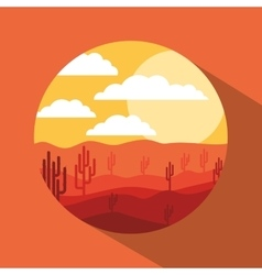 Beautiful landscape frame design vector