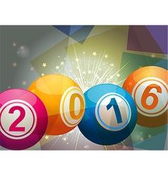 Bingo lottery balls 2016 vector image vector image