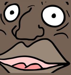 black man face vector image vector image