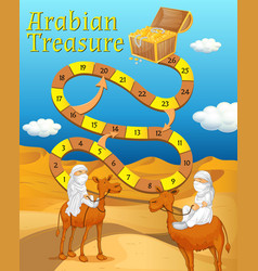 boardgame template with desert in background vector image vector image
