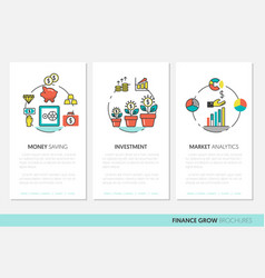 business brochure template with finance vector image