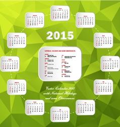 Calendar usa holidays circle green vector