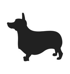 Corgi black silhouette vector