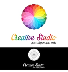 Creative studio logo template vector image