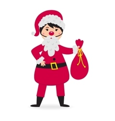 Cute kid wearing Christmas costume vector image