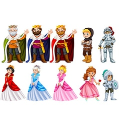 Different fairytales characters on white vector image vector image