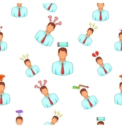 Feeling pattern cartoon style vector