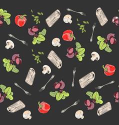 Food pattern vegetables vector