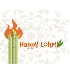 happy lohri banner vector image