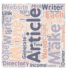 How to Make Money with Article Directories 1 text vector image