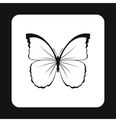 Insect butterfly with white and black wings icon vector