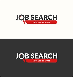 Job search logo vector image vector image