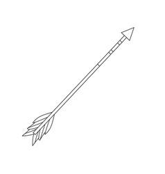 line cute arrow element with ornamental design vector image