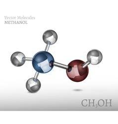 Methanol molecule image vector