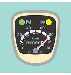 Miles speedometer B vector image