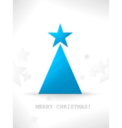 Modern stylized and minimalistic Christmas tree ve vector image vector image