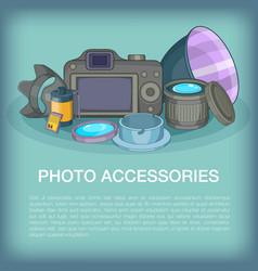 Photo accessories concept cartoon style vector