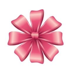 ribbon bow pink vector image