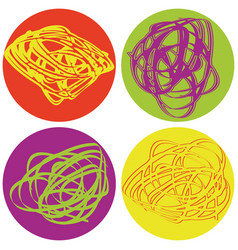 set of icons with abstract figures vector image