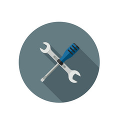 spanner and screwdriver vector image vector image