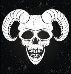 White Demons Head vector image