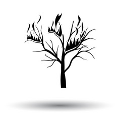Wildfire icon vector