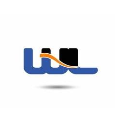 Wl initial company group logo vector