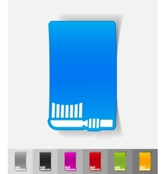 Realistic design element toothbrush vector