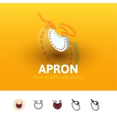 Apron icon in different style vector